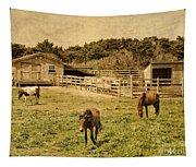 Feral Horses Of Ocracoke Tapestry