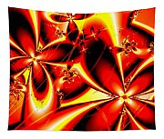 Flaming Red Flowers Tapestry