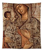 Icon Of The Blessed Virgin With Three Hands Tapestry