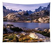 Island Lake And Wind River Range Tapestry