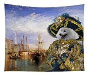 Japanese Spitz Art Canvas Print Tapestry