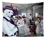 Kuvasz Art Canvas Print Tapestry