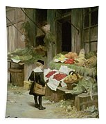 Little Boy At The Market Tapestry