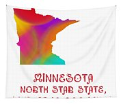 Minnesota State Map Collection 2 Tapestry