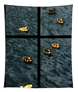 On Golden Duck Pond Tapestry