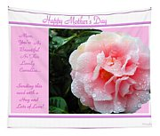 Pink Camellia - Happy Mother's Day Tapestry