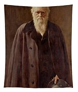 Portrait Of Charles Darwin Tapestry