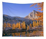 Prusik Peak Behind Larch Trees Tapestry