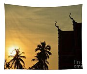 Sunset In The Tempel Tapestry