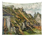Thatched Cottages In Chaponval Tapestry