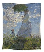 Woman With A Parasol Madame Monet And Her Son Tapestry