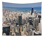 0001 Chicago Skyline Tapestry