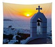 0209 Mykonos Sunset Tapestry