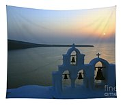 0210 Oia Sunset Tapestry