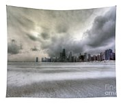 0242 Wintry Chicago Tapestry