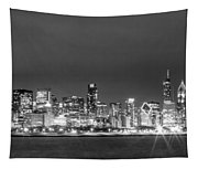 0248 Chicago Skyline Panoramic Tapestry
