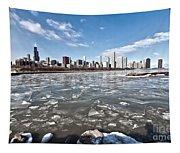 0486 Chicago Skyline Tapestry