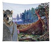 Swedish Elkhound - Jamthund Art Canvas Print Tapestry