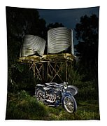 1924 Ace And Corrugated Water Tanks Tapestry