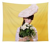 1960s Glamour Woman In White Turn Tapestry