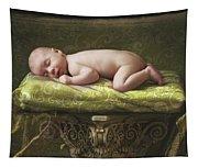 A Baby Asleep On A Pillar Tapestry