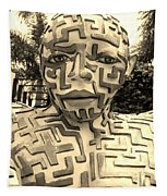 1 A Maze Ing Man Sepia Tapestry