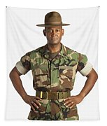 A Military Man Tapestry