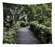 A Raised Walking Path Inside The National Orchid Garden In Singapore Tapestry