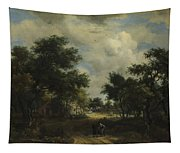 A Road Winding Past Cottages Tapestry