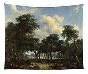A Woody Landscape With A Cottage Tapestry