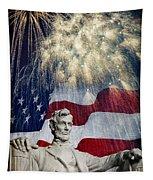 Abraham Lincoln Fireworks Tapestry