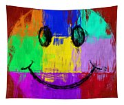 Abstract Smiley Face Tapestry
