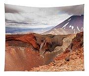 Active Volcanoe Cone Of Mt Ngauruhoe New Zealand Tapestry