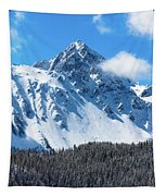 Aerial Of Mount Sneffels With Snow Tapestry