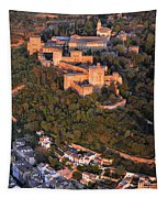 Aerial Photo  Alhambra And Albaycin In Granada Tapestry