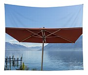 Alpine Lake With Parasol Tapestry