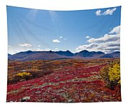 Alpine Landscape In Fall Tapestry