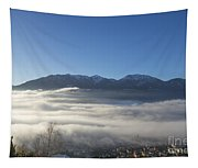 Alpine Village Under Sea Of Fog Tapestry