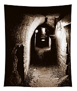 A Tunnel In The Catacombs Of Paris France Tapestry