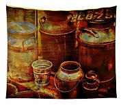 Antique Milk Cans Tapestry