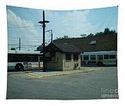 Archer/neva Cta Bus Terminal Tapestry