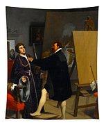 Aretino In The Studio Of Tintoretto Tapestry