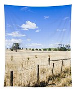 Arid Agricultural Landscape In South Tasmania Tapestry