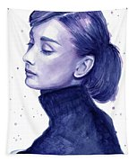Audrey Hepburn Portrait Tapestry