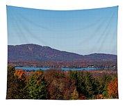 Autumn Trees At Lakeshore, Brome Lake Tapestry