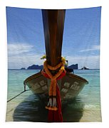 Beauty Of Boats Thailand 1 Tapestry