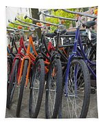 Bicycles In Amsterdam Tapestry