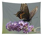 Black Swallowtail Butterfly Feeding Tapestry