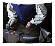 Blacksmith At The Old Fort Tapestry