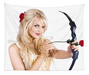 Blond Woman With Cupid Bow Tapestry